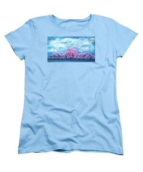 Women's T-Shirt (Standard Cut) featuring the photograph Horse Country In Pink by Louis Ferreira