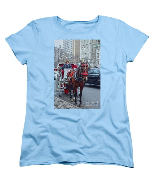 Women's T-Shirt (Standard Cut) featuring the photograph Horse Power by Sandy Moulder