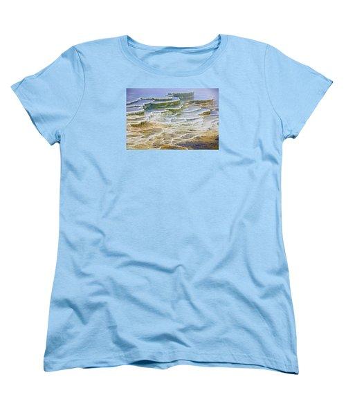 Women's T-Shirt (Standard Cut) featuring the photograph Hot Springs Runoff by Gary Lengyel