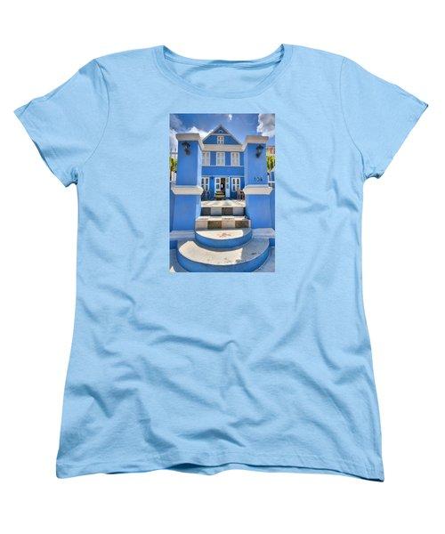 House Of Blues Women's T-Shirt (Standard Cut) by Nadia Sanowar