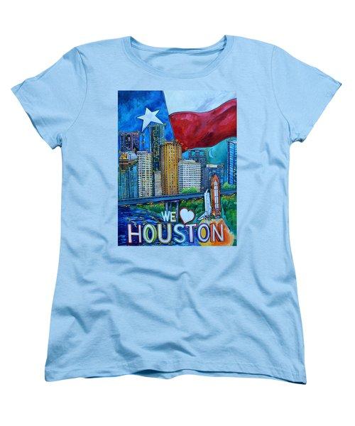 Houston Montage Women's T-Shirt (Standard Cut) by Patti Schermerhorn