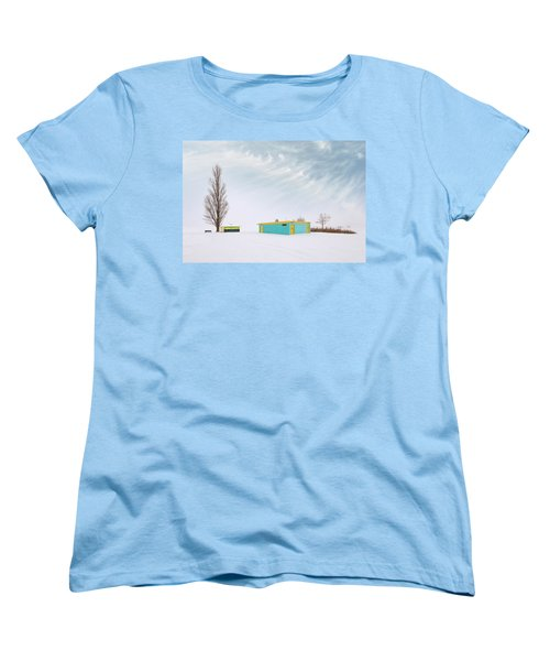 Women's T-Shirt (Standard Cut) featuring the photograph How To Wear Bright Colors In The Winter by John Poon