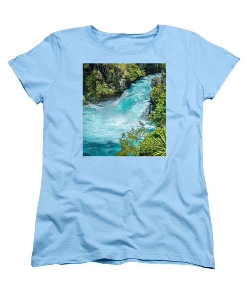 Huka Falls Women's T-Shirt (Standard Cut) by Racheal Christian