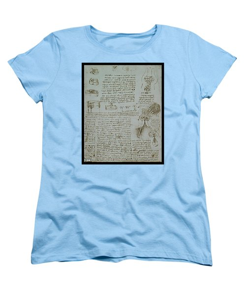 Women's T-Shirt (Standard Cut) featuring the painting Human Study Notes by James Christopher Hill