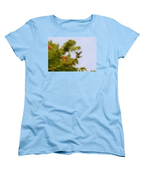 Women's T-Shirt (Standard Cut) featuring the photograph Humbird by Robert Pearson