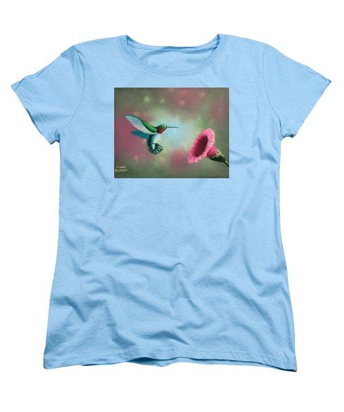 Humming Bird Feeding Women's T-Shirt (Standard Cut)