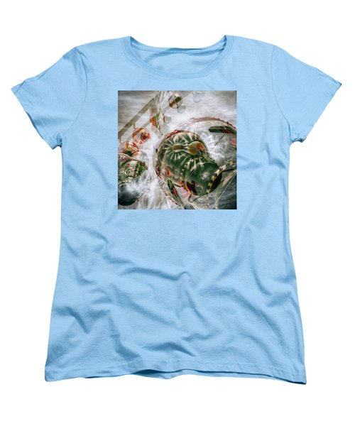 Women's T-Shirt (Standard Cut) featuring the photograph Hung Up And Strung Out by Wayne Sherriff