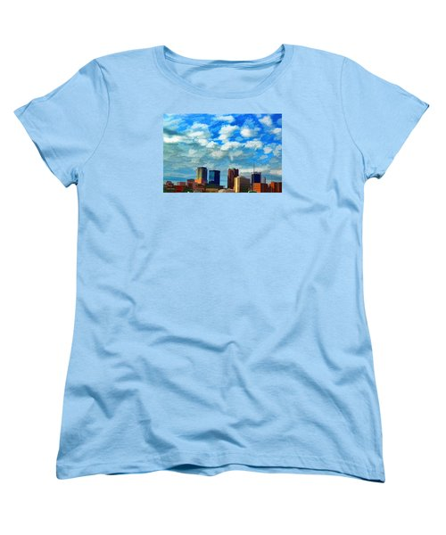 Huntsville Alabama Skyline Abstract Art Women's T-Shirt (Standard Cut)