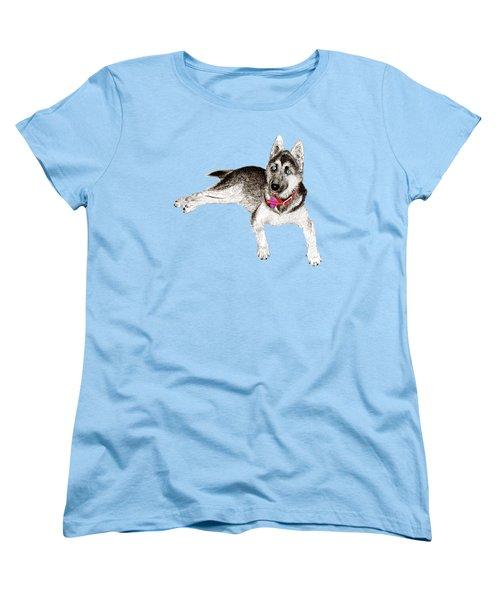 Husky Puppy Bella Women's T-Shirt (Standard Cut) by Jack Pumphrey
