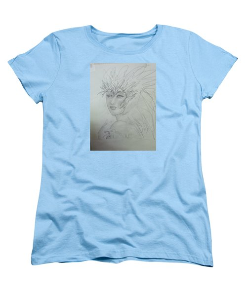 Women's T-Shirt (Standard Cut) featuring the drawing I Am The Phoenix by Sharyn Winters