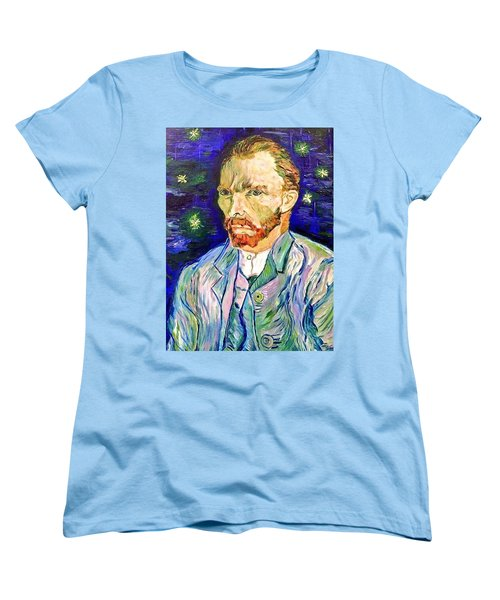 Women's T-Shirt (Standard Cut) featuring the painting I Dream My Painting And I Paint My Dream by Belinda Low