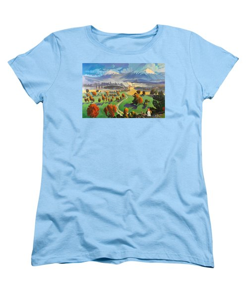 Women's T-Shirt (Standard Cut) featuring the painting I Dreamed America by Art James West