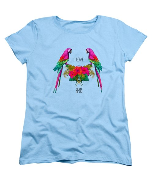 I Love Birds Women's T-Shirt (Standard Cut)