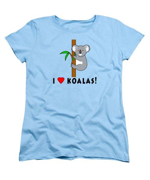 I Love Koalas Women's T-Shirt (Standard Cut) by A