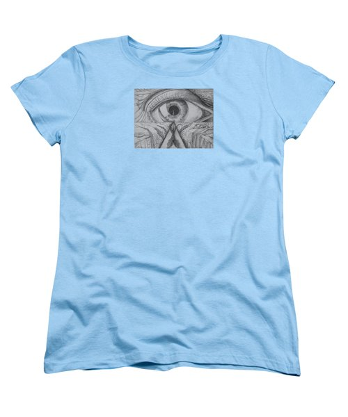 Women's T-Shirt (Standard Cut) featuring the drawing I Shadow by Charles Bates