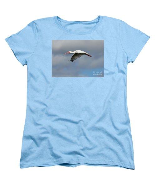 Ibis In Flight Women's T-Shirt (Standard Cut) by Carol Groenen