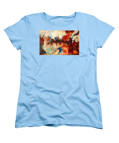 Ice Cream From Ear To Ear Women's T-Shirt (Standard Cut) by Tracy Bonin