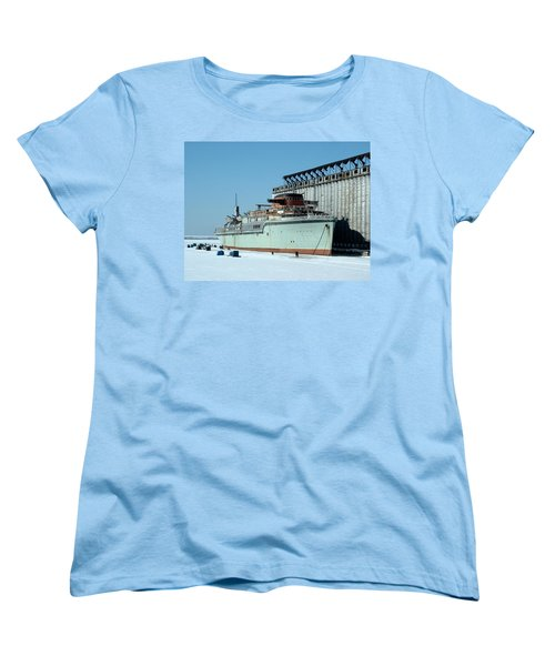 Ice Fishing On Lake Erie Women's T-Shirt (Standard Cut) by Ely Arsha