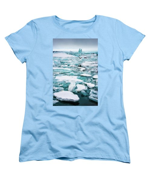 Women's T-Shirt (Standard Cut) featuring the photograph Ice Galore In The Jokulsarlon Glacier Lagoon Iceland by Matthias Hauser