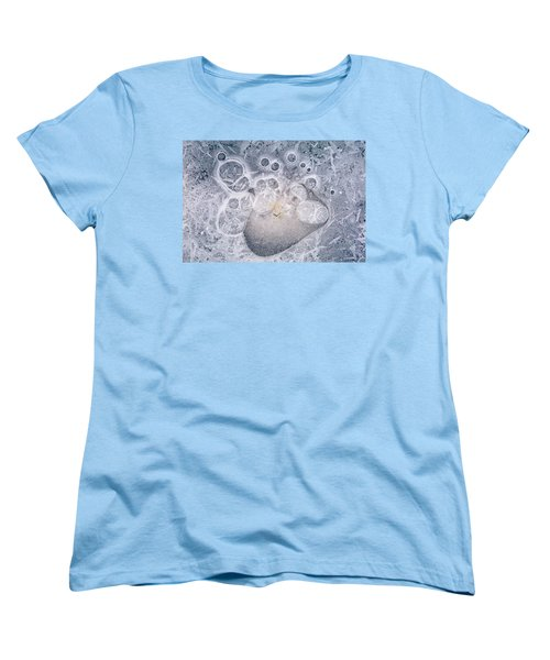Women's T-Shirt (Standard Cut) featuring the photograph Ice Pattern Two by Davorin Mance