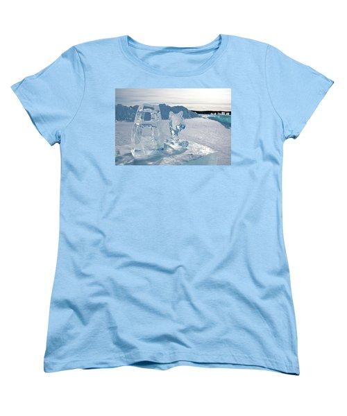 Ice Sculpture Women's T-Shirt (Standard Cut) by Tamara Sushko