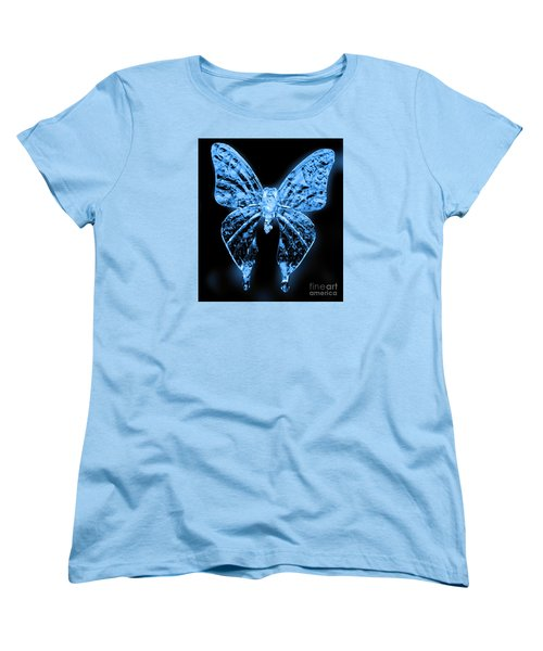 Ice Wing Butterfly Women's T-Shirt (Standard Cut) by Cassandra Buckley
