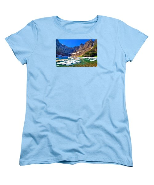 Women's T-Shirt (Standard Cut) featuring the photograph Iceberg Lake by Greg Norrell
