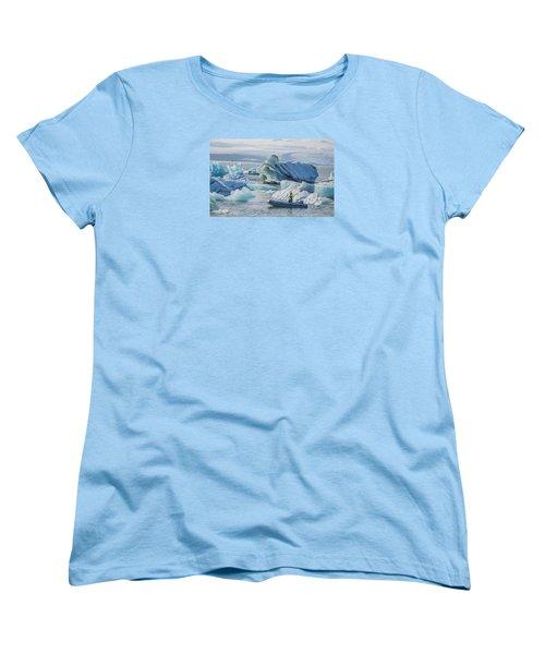 Icebergs On Jokulsarlon Lagoon In Iceland Women's T-Shirt (Standard Cut) by Venetia Featherstone-Witty