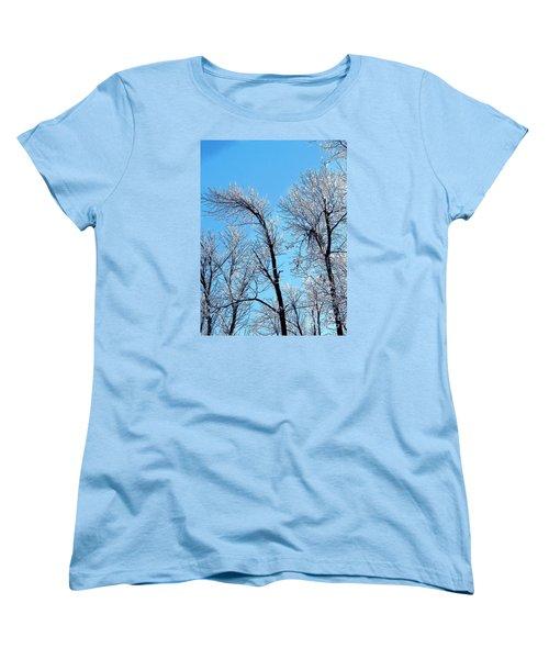 Iced Trees Women's T-Shirt (Standard Cut) by Craig Walters