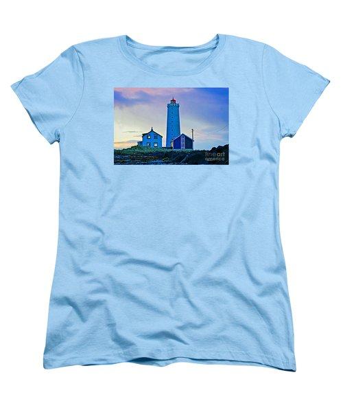 Iceland Lighthouse Women's T-Shirt (Standard Cut) by Michael Cinnamond