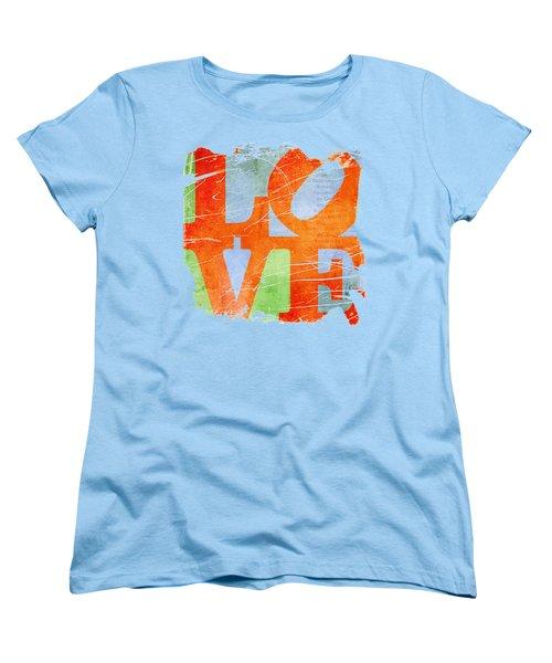 Iconic Love - Grunge Women's T-Shirt (Standard Cut) by Paulette B Wright