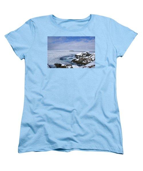 Icy Ocean Slush Women's T-Shirt (Standard Cut) by Annlynn Ward
