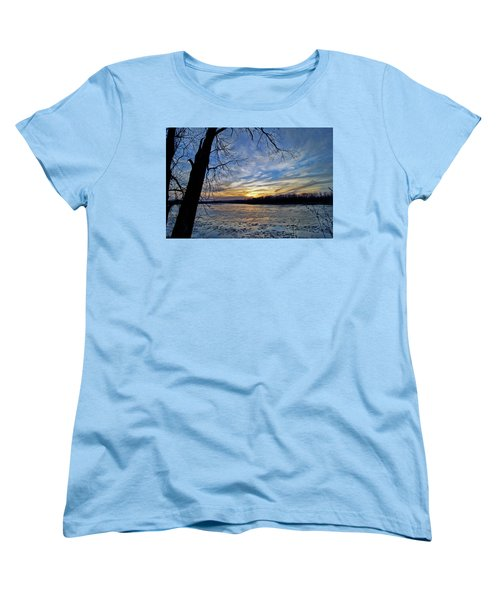 Women's T-Shirt (Standard Cut) featuring the photograph Icy River by Cricket Hackmann
