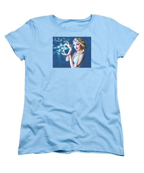 Icy Touch Women's T-Shirt (Standard Cut) by Dave Luebbert