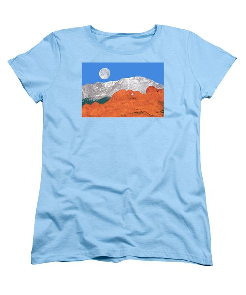 If You're Lucky Enough To Live In The Mountains, You're Lucky Enough.  Women's T-Shirt (Standard Cut) by Bijan Pirnia