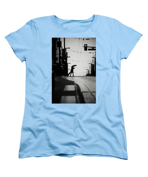 Women's T-Shirt (Standard Cut) featuring the photograph Im Leaving But Never  by Empty Wall