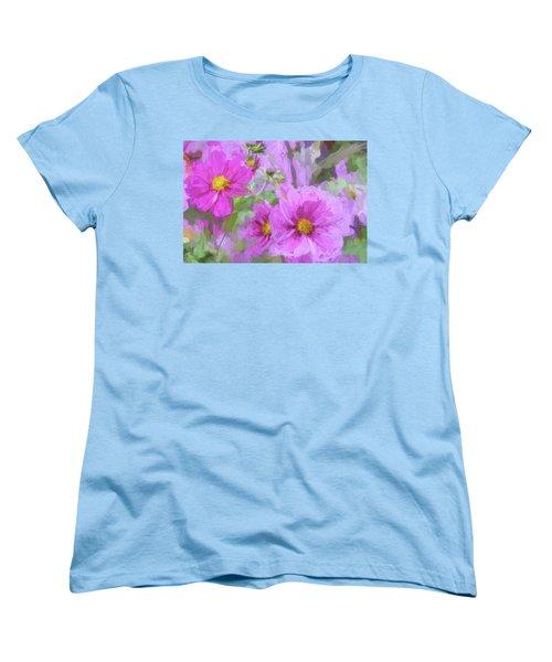 Impasto Cosmos Women's T-Shirt (Standard Cut) by Bonnie Bruno