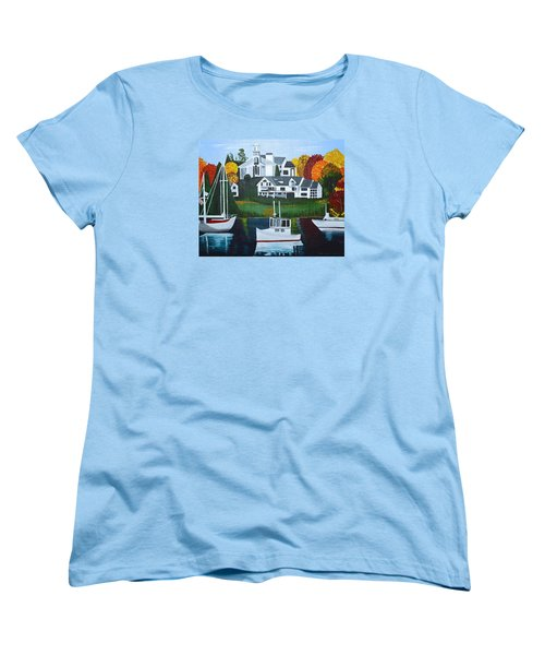 Impressions Of New England Two Women's T-Shirt (Standard Cut) by Donna Blossom