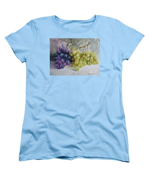Women's T-Shirt (Standard Cut) featuring the painting In Harmony by Elena Oleniuc