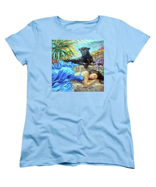 Women's T-Shirt (Standard Cut) featuring the painting In One's Sleep by Dmitry Spiros