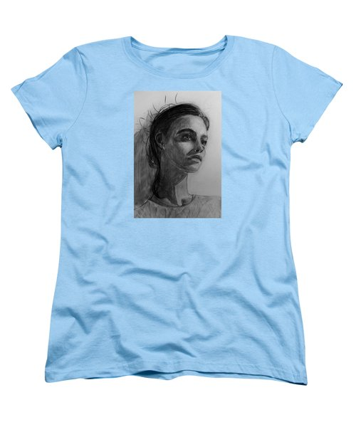 Women's T-Shirt (Standard Cut) featuring the painting In This Silence I Believe by Jarko Aka Lui Grande