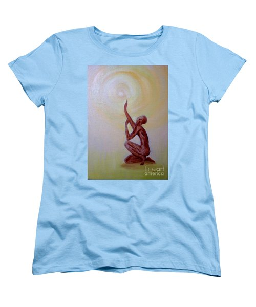 Women's T-Shirt (Standard Cut) featuring the painting In The Beginning by Marlene Book