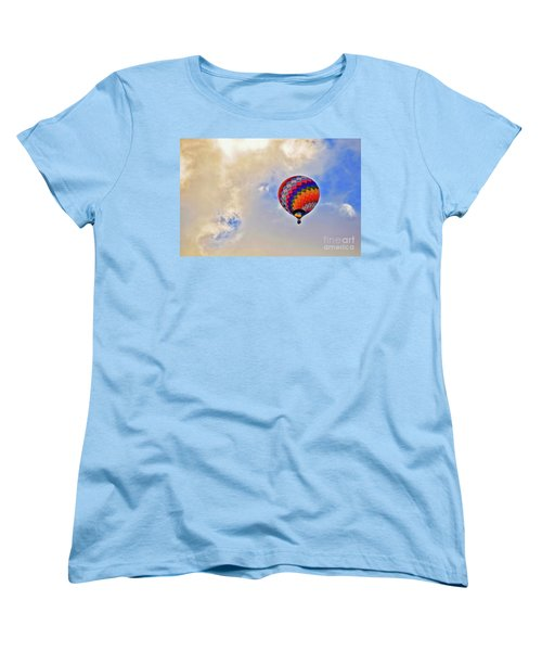 Women's T-Shirt (Standard Cut) featuring the photograph In The Clouds by Gina Savage