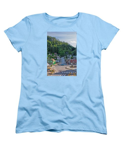Women's T-Shirt (Standard Cut) featuring the photograph In The Crosswalk by Lewis Mann