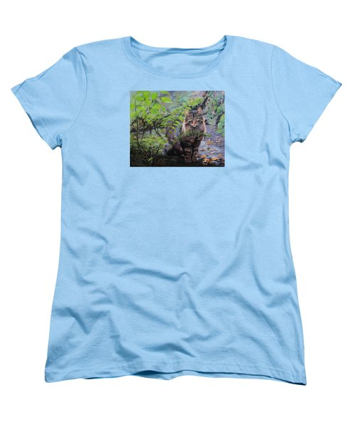 Women's T-Shirt (Standard Cut) featuring the painting In The Forest by Karen Ilari