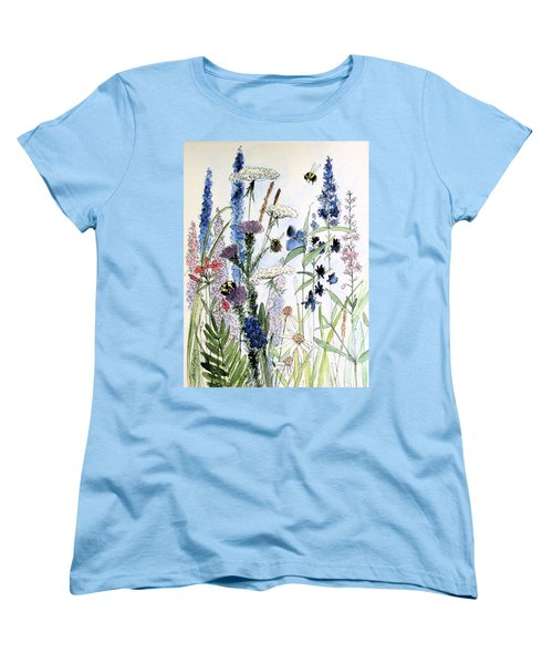 Women's T-Shirt (Standard Cut) featuring the painting In The Garden by Laurie Rohner
