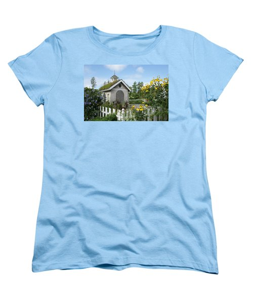 Women's T-Shirt (Standard Cut) featuring the photograph In The Garden by Lois Lepisto