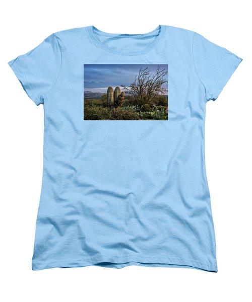 Women's T-Shirt (Standard Cut) featuring the photograph In The Green Desert  by Saija Lehtonen