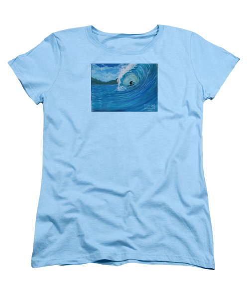 Women's T-Shirt (Standard Cut) featuring the painting In The Green Room by Myrna Walsh