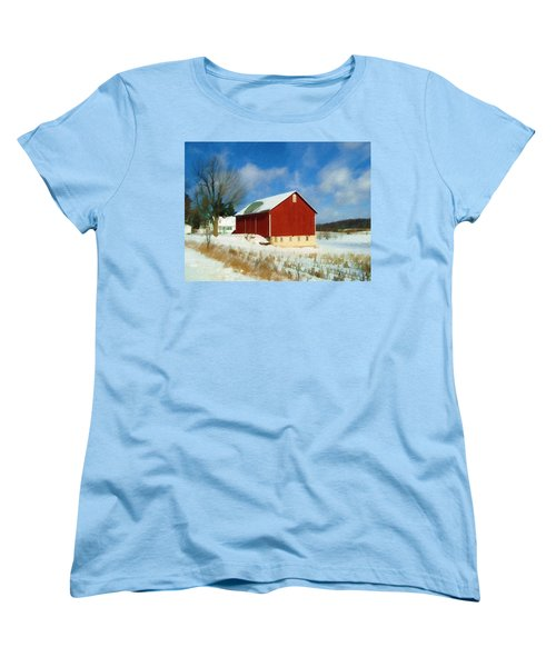Women's T-Shirt (Standard Cut) featuring the photograph In The Throes Of Winter by Sandy MacGowan